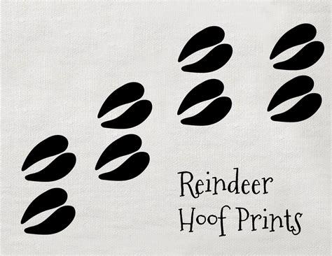 Printable Reindeer Hoof Prints | best photos of reindeer paw prints reindeer paw print