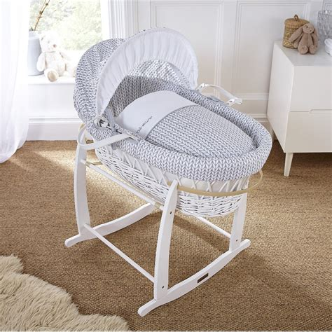 moses bed buy clair de lune white wicker moses basket stardust