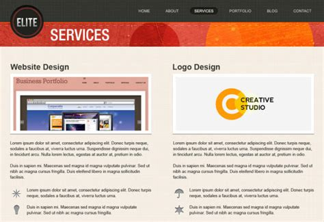 Download Free High Quality Well Designed Psd Website Template Of 2014 Blogoftheworld Services Page Template