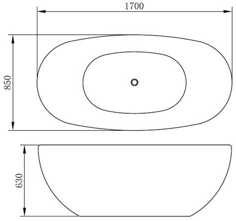 dimensione vasca da bagno vasca da bagno blazar 170x85