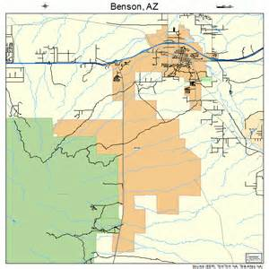 map of benson arizona benson arizona map 0405770