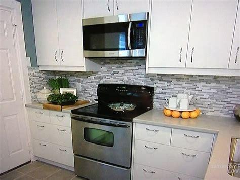 blue gray backsplash kitchen
