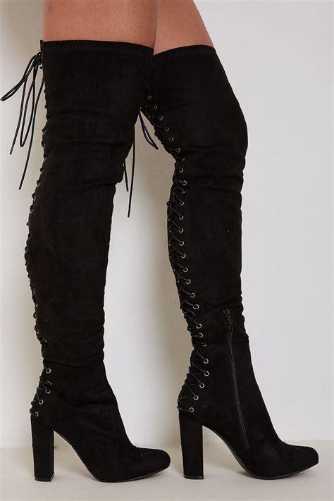 Heel Fashion 1398 high heel boots lace up fs heel