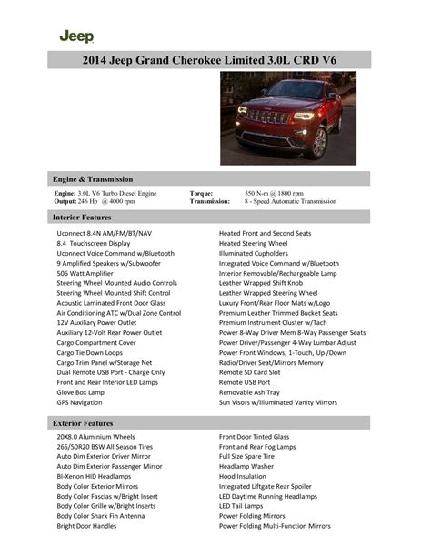 2014 Jeep Grand Limited Specs by Mias 2014 Jeep Grand Levels Up W Complete