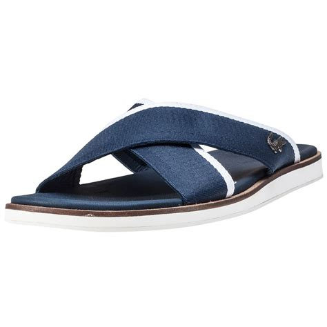 navy mens sandals lacoste coupri sandal 117 1 mens sandals in navy