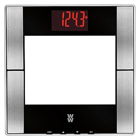 weight watchers bathroom scales buy weight watchers 174 glass digital body analysis red led bathroom scale by conair