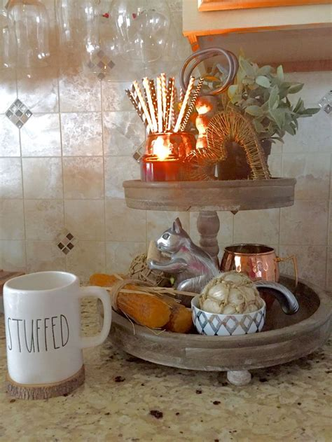 target fall decor fall decor in a tiered tray adds storage and whimsy to a