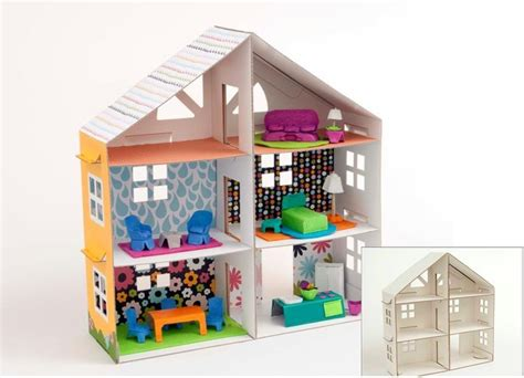make your own doll house how to make a cardboard box dollhouse woodworking