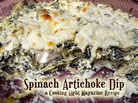 cooking light spinach artichoke dip food recipes from the patch
