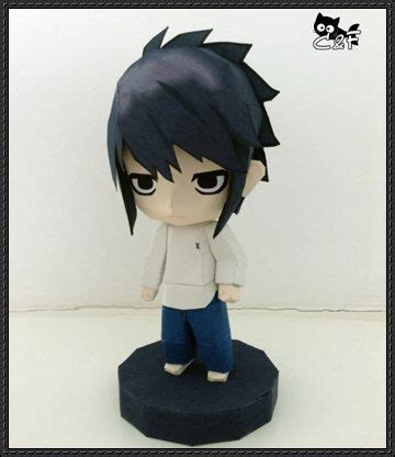 Papercraft Figure - note chibi l free figure papercraft