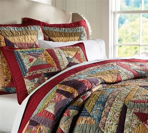 Patchwork Quilts Bedding - bandana patchwork quilt sham pottery barn