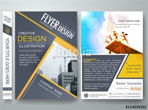 design poster template quot flyers design template vector brochure report business