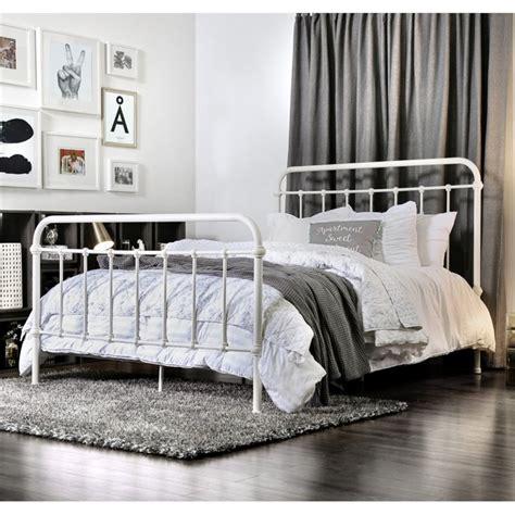 spindle bed king furniture of america celinda california king metal spindle bed idf 7701wh ck