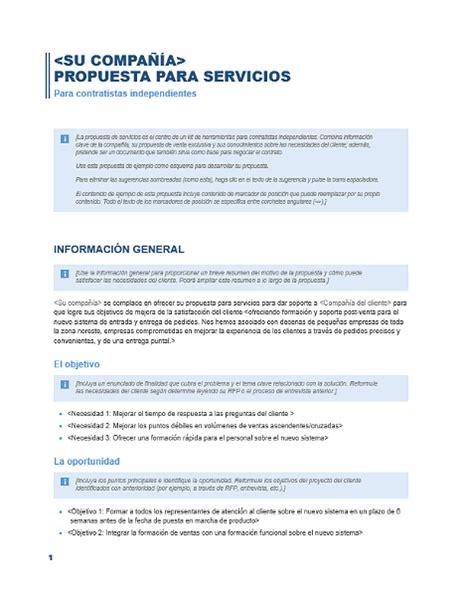 carta propuesta de contratacion propuesta de servicios office templates
