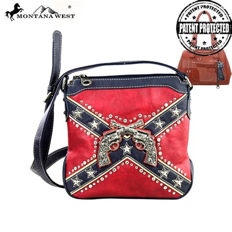 rebel flag bathroom accessories cfd01g 8395 montana west confederate flag collection messenger bag concealed gun
