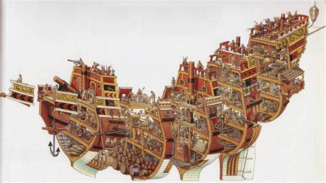 sailboat on spanish incredible cross sections cross section pinterest