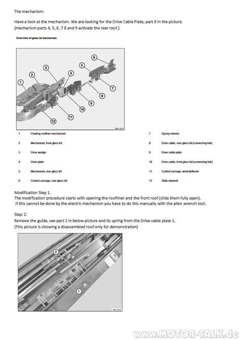 Günstige Werkstatt by Seite 2 Reparaturanleitung Panoramadach Bmw E61 Defekt