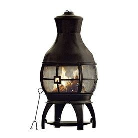 cast iron chiminea lowes lowes garden treasures living clay cast iron chiminea