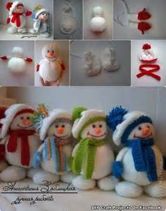 How to make cute snowman dolls with winter hats step by step diy