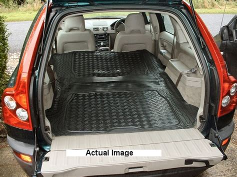 q7 rubber boot mat volvo xc90 rubber boot mat liner and cargo area mat pair