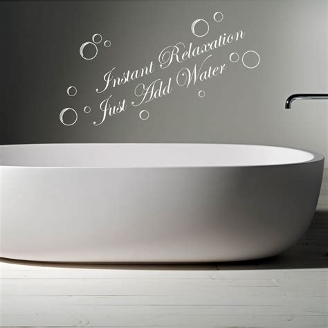 wall decals for bathroom instant relaxation just add water bathroom words quotes