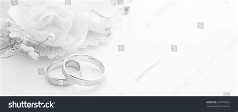Wedding Banner Ring by Wedding Rings On Wedding Card On Stock Photo 531978373