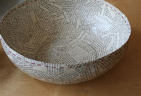 How To Make Paper Mache With Newspaper - the lulu bird paper mache bowls