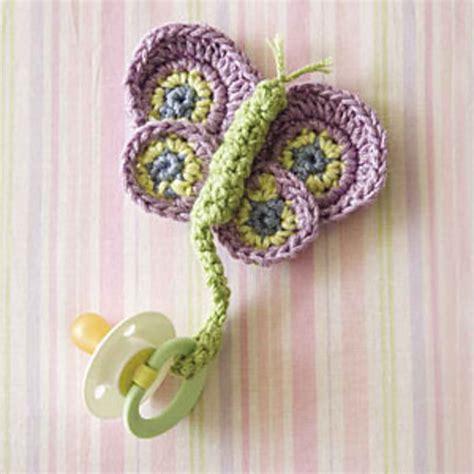 free crochet pattern pacifier holder butterfly pacifier holder crochet pattern pinpoint