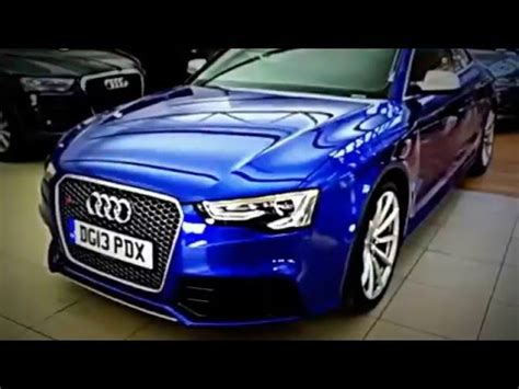 audi rs 5 custom blue paint car review 2016 crezy cars