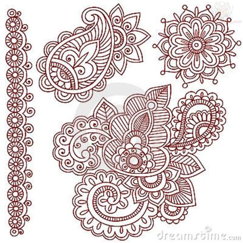 henna tattoo stencil paisley pattern images designs
