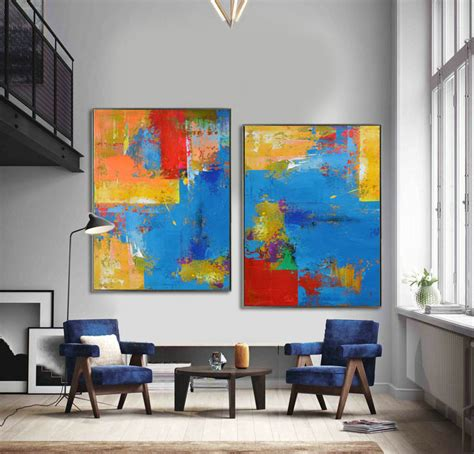 contemporary painting ideas set of 2 large contemporary painting abstract canvas art
