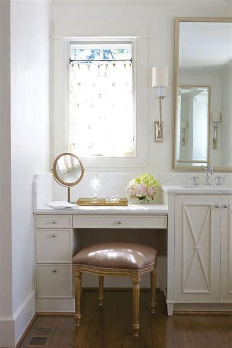 Vanity Table For Bathroom Built In Makeup Vanity Transitional Bathroom Jan Ware Designs