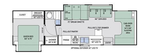 four winds rv floor plans 2017 thor four winds 31l new m36715
