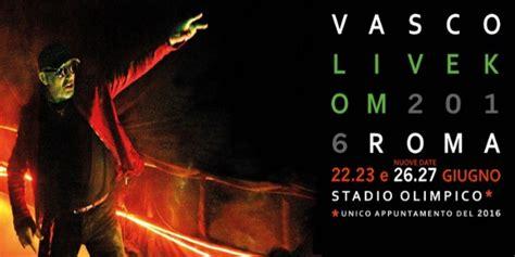 concerto vasco roma vasco torna allo stadio olimpico con quattro date