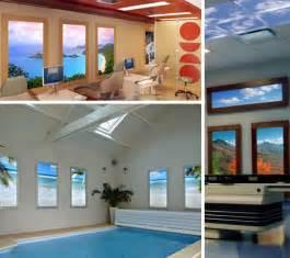 Tropical Beach Wall Murals virtual light 12 faux natural windows amp fake sky ceilings