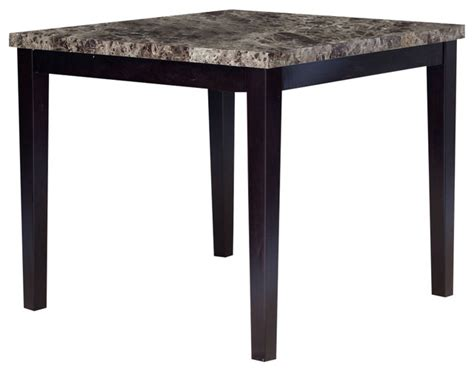 42 Inch Dining Table Contemporary 42 X 42 Inch Counter Height Dining Table With Faux Marble Top Dining Tables By