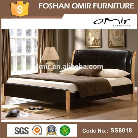 leather bedroom furniture ss8018 modern leather pu bed bedroom furniture for sale