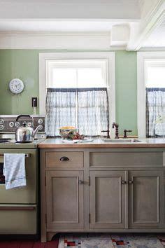 light green kitchen on