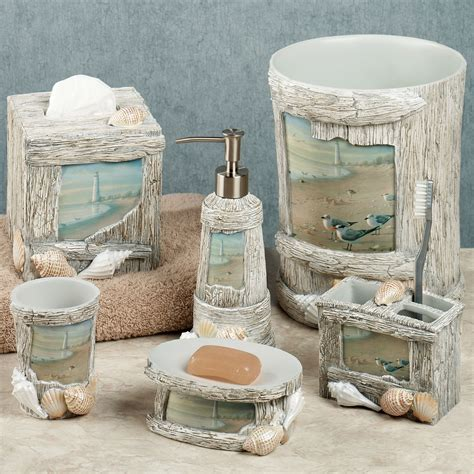 seashore bathroom decor at the beach bath accessories
