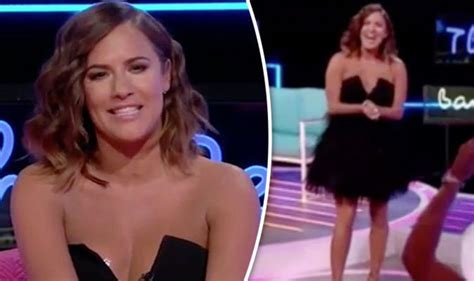 Epic Wardrobe by Caroline Flack Suffers Epic Wardrobe As She Exposes This During Live Broadcast