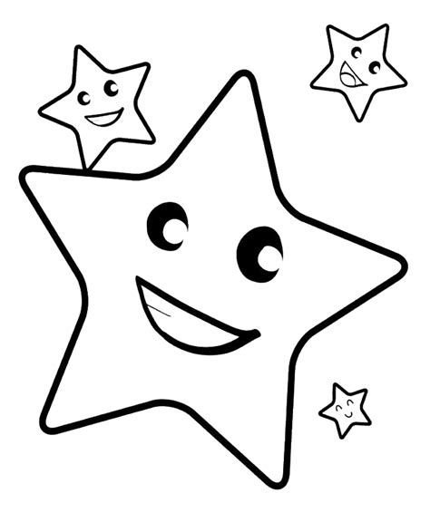 free coloring page of a star coloring pages of stars coloring home