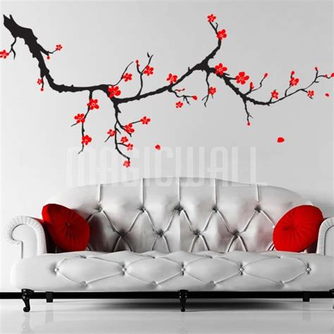 cherry blossom wall stickers wall decals cherry blossom branch wall stickers