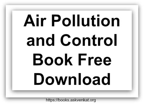 book free download air pollution and control book free download pdf