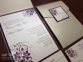 chagne and purple wedding invitation with orchid design a vibrant wedding