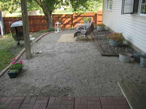 Gravel Backyard Ideas Happy At Home A New Gravel Patio