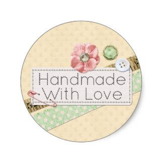 Handmade Stickers - handmade with stickers zazzle
