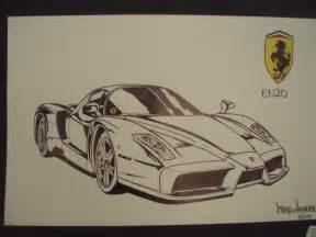 Enzo Drawing Car Drawings Enzo