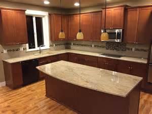 Granite Kitchen Countertop Ideas by Astoria Granite Countertop Backsplash Ideas