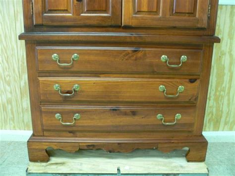 Knotty Pine Armoire Broyhill Solid Knotty Pine Armoire Chest
