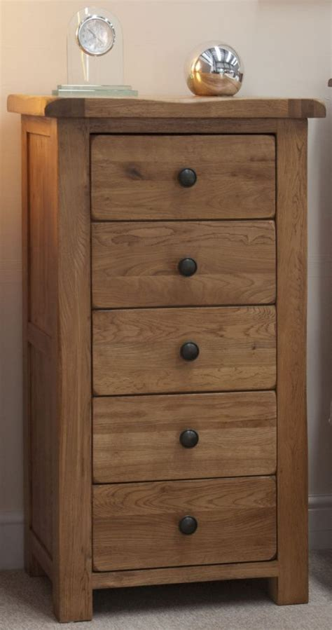 Narrow Oak Chest Of Drawers by Buy Homestyle Gb Rustic Oak Chest Of Drawer 5 Drawer